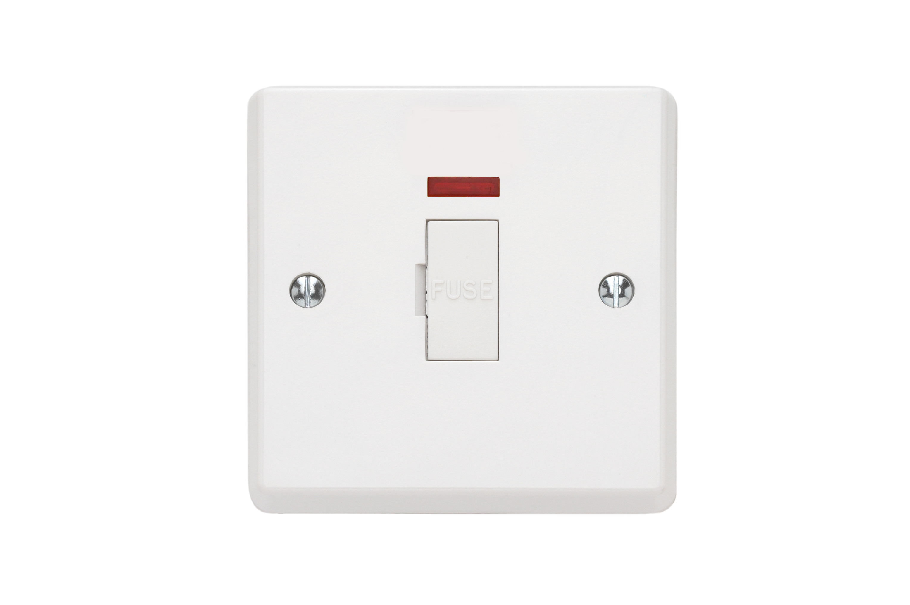 Contactum X2346 1 Gang 13A Switched DP Moulded White Socket