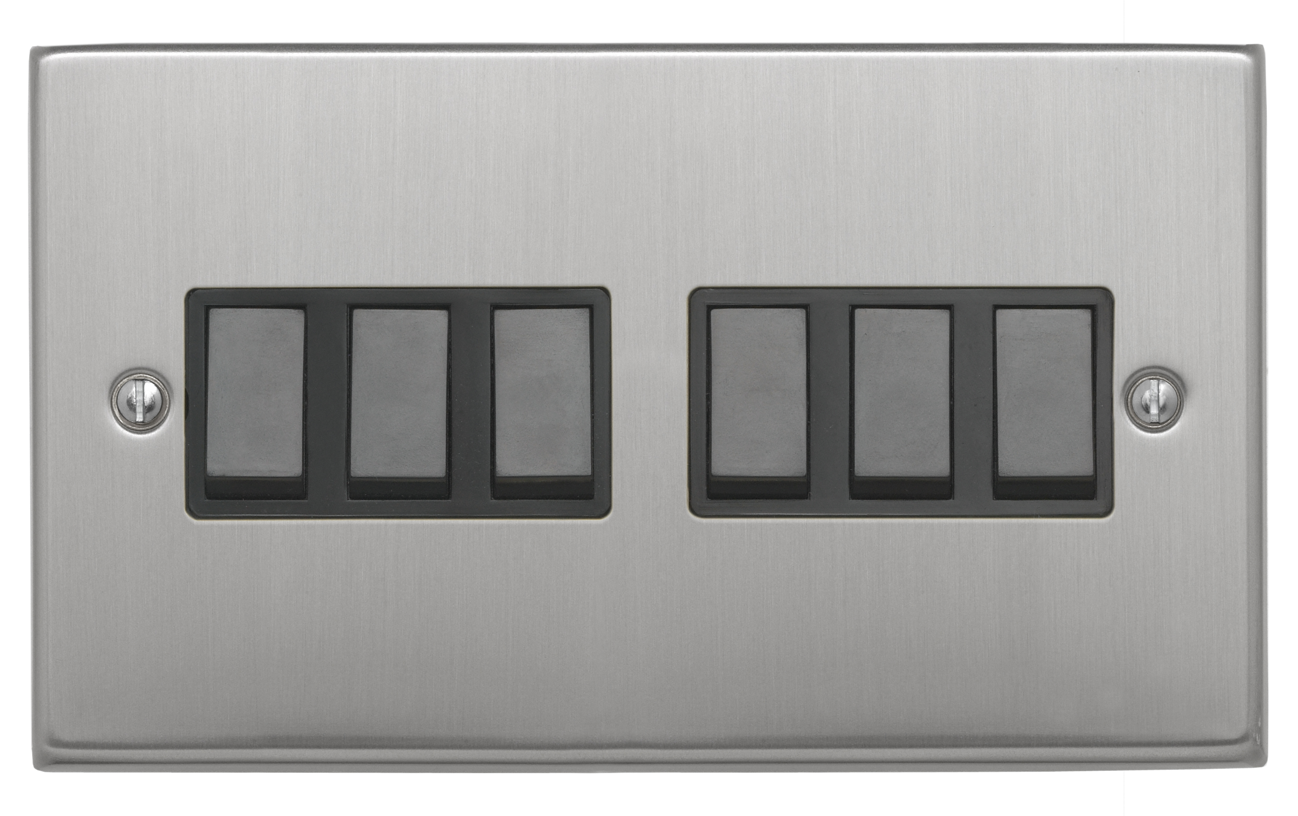Contactum CON3456BSB DP Cooker Control with Plastic Rocker 45A Brushed Steel