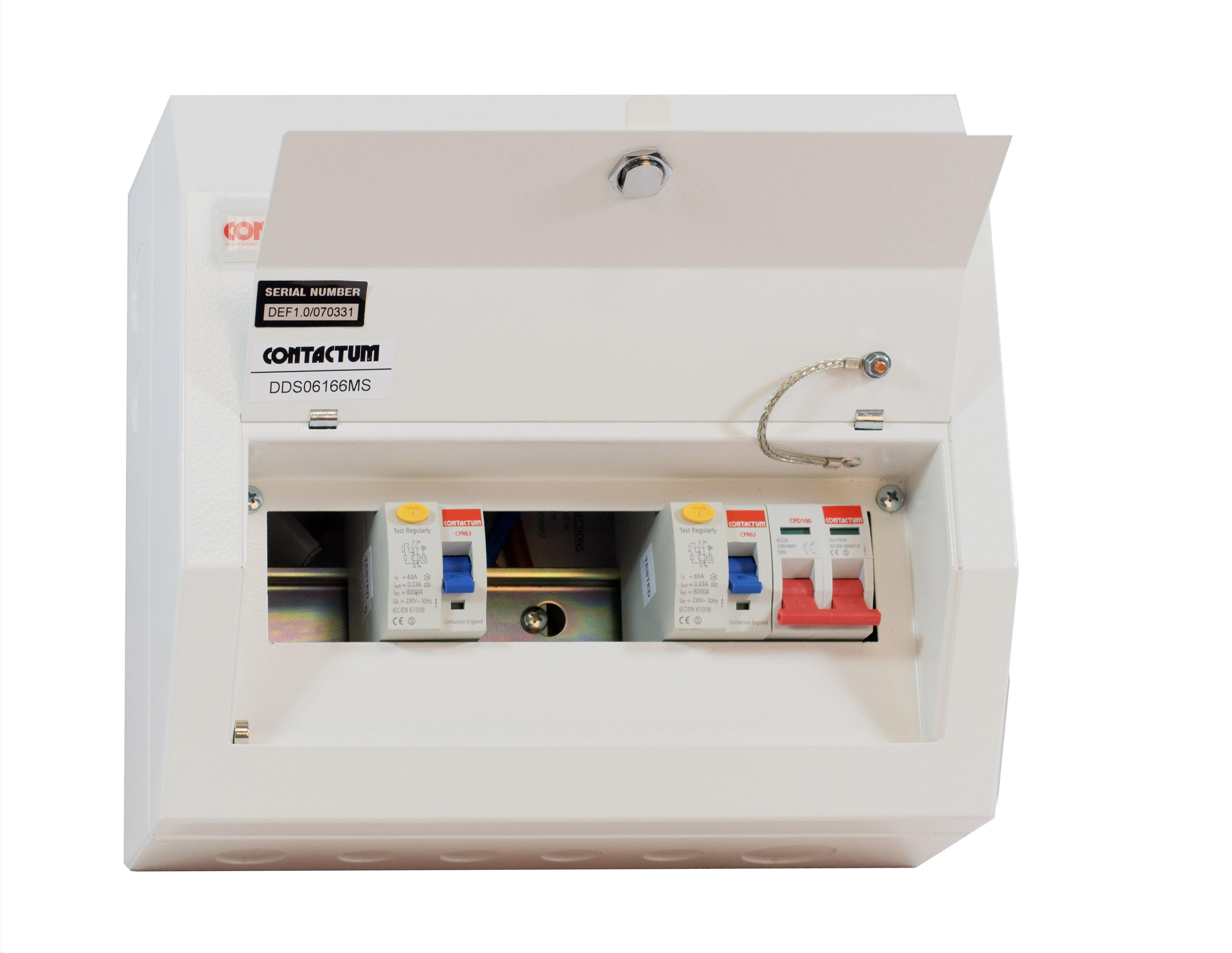 Consumer Units Defender Contactum Wiring Dual Rcd Unit Dds06166ms