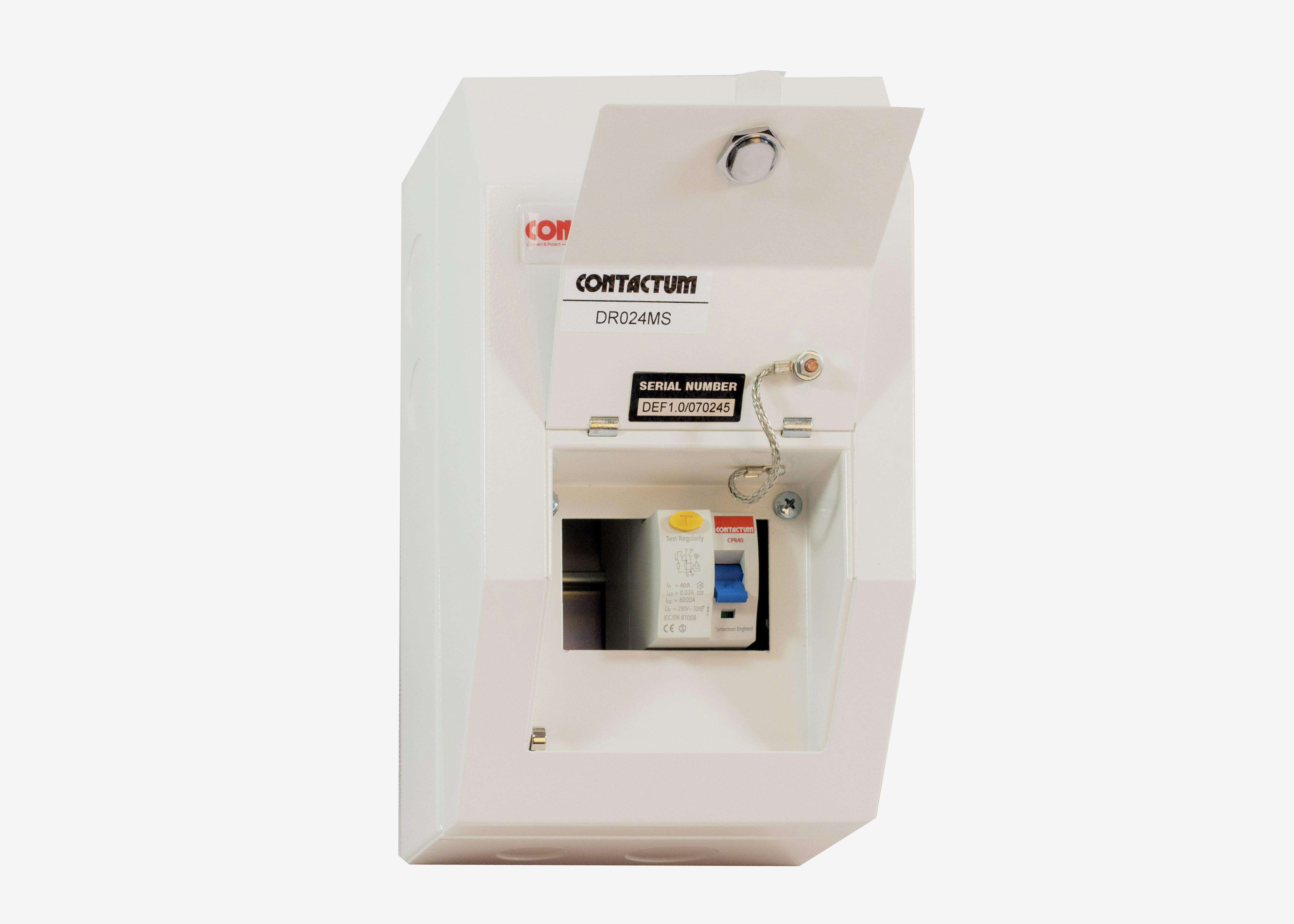 Consumer Units Defender Contactum Wiring Dual Rcd Unit Incomer